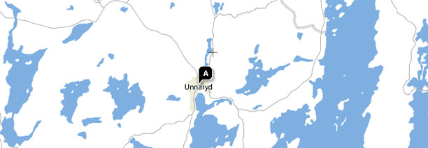 Unnaryd on the map